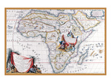 Map of Africa Prints by Vincenzo Coronelli