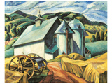 The White Barn, Eastern Townships Print by Ethel Seath