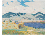 Haytime Near Knowlton Poster by Albert H. Robinson