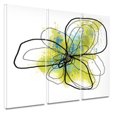 Citron Petals II 3 piece gallery-wrapped canvas Prints by Jan Weiss