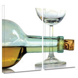 Bottle Plus Glass 2 piece gallery-wrapped canvas Art by Dan Holm