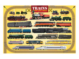 Trains for Kids Posters