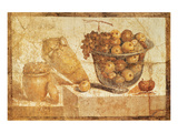 Bowl with Fruits Affiches