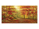 Autumn Path in Gogh Poster von Karel Andries