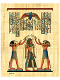 The King with Horus Print