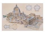 Rome, St. Peter's Basilica Posters av L. Derrien