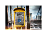 Instants of NY Series - Police Emergency Call Box on Walkway of Brooklyn Bridge in New York City Photographic Print by Philippe Hugonnard