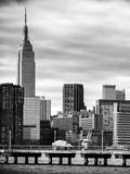 Jetty View with City and the Empire State Building Photographic Print by Philippe Hugonnard