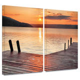 Another Kekua Sunrise 2 piece gallery-wrapped canvas Gallery Wrapped Canvas Set by Steve Ainsworth