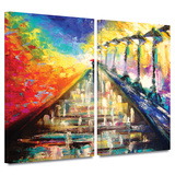 Rainy Paris Evening 2 piece gallery-wrapped canvas Prints by Susi Franco
