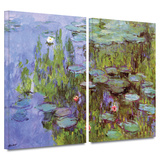 Sea Roses 2 piece gallery-wrapped canvas Gallery Wrapped Canvas Set by Claude Monet
