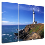 Pigeon Point Lighthouse 3 piece gallery-wrapped canvas Gallery Wrapped Canvas Set by Kathy Yates