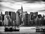 Jetty View with Manhattan and the Chrysler Building Photographic Print by Philippe Hugonnard