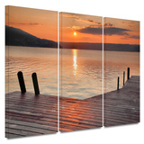 Another Kekua Sunrise 3 piece gallery-wrapped canvas Print by Steve Ainsworth
