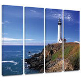 Pigeon Point Lighthouse 4 piece gallery-wrapped canvas Poster by Kathy Yates