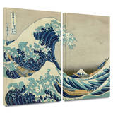 The Great Wave Off Kanagawa 2 piece gallery-wrapped canvas Print by Katsushika Hokusai
