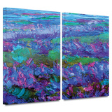 Charlits Floral 2 piece gallery-wrapped canvas Posters by Susi Franco