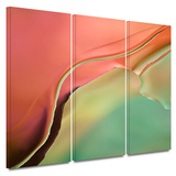 Flow Abstract I 3 piece gallery-wrapped canvas Prints by Cora Niele