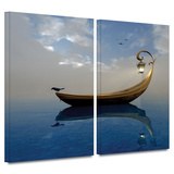 Narcissism 2 piece gallery-wrapped canvas Prints by Cynthia Decker