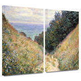 Footpath 2 piece gallery-wrapped canvas Art by Claude Monet