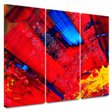 Passionate Explosion 3 piece gallery-wrapped canvas Prints by Byron May