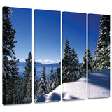 Lake Tahoe in Winter 4 piece gallery-wrapped canvas Art by Kathy Yates