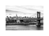 Landscape View of Midtown NY with Manhattan Bridge and the Empire State Building Photographic Print by Philippe Hugonnard