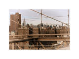 View of Downtown Manhattan from the Brooklyn Bridge Photographic Print by Philippe Hugonnard
