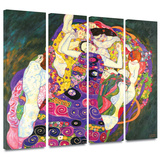 Virgins 4 piece gallery-wrapped canvas Gallery Wrapped Canvas Set by Gustav Klimt