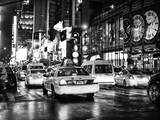 Yellow Cab on 7th Avenue at Times Square by Night Photographic Print by Philippe Hugonnard