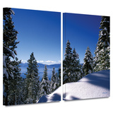 Lake Tahoe in Winter 2 piece gallery-wrapped canvas Prints by Kathy Yates