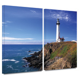 Pigeon Point Lighthouse 2 piece gallery-wrapped canvas Posters by Kathy Yates