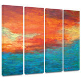 Lake Reflections II 4 piece gallery-wrapped canvas Prints by Herb Dickinson