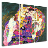 Virgins 3 piece gallery-wrapped canvas Art by Gustav Klimt