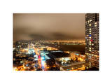 Manhattan Night Landscape with Fog Photographic Print by Philippe Hugonnard