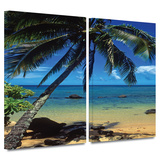 Beautiful Smini Beach 2 piece gallery-wrapped canvas Posters by Kathy Yates