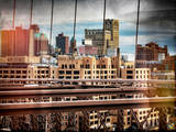 Instants of NY Series - View of Brooklyn Bridge of the Watchtower Building Photographic Print by Philippe Hugonnard