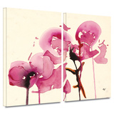 Orchids I 2 piece gallery-wrapped canvas Prints by Karin Johanneson