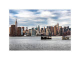 Skyline Manhattan with Empire State Building and Chrysler Building Photographic Print by Philippe Hugonnard