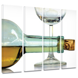 Bottle Plus Glass 4 piece gallery-wrapped canvas Prints by Dan Holm