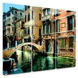 Venice Canal 3 piece gallery-wrapped canvas Prints by George Zucconi