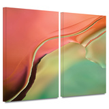 Flow Abstract I 2 piece gallery-wrapped canvas Prints by Cora Niele