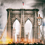 Instants of NY Series - Brooklyn Bridge View - Manhattan - New York City - United States - USA Photographic Print by Philippe Hugonnard