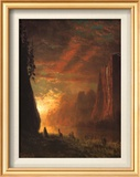 Deer at Sunset Prints by Albert Bierstadt