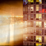 Instants of NY Series - Architecture and Building in Downtown Manhattan by Night Photographic Print by Philippe Hugonnard