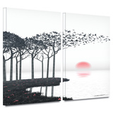 Aki 2 piece gallery-wrapped canvas Prints by Cynthia Decker