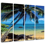 Beautiful Smini Beach 4 piece gallery-wrapped canvas Gallery Wrapped Canvas Set by Kathy Yates