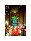 The Metlife Building Towers over Grand Central Terminal at Night Photographic Print by Philippe Hugonnard