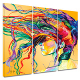 Windswept 3 piece gallery-wrapped canvas Prints by Linzi Lynn