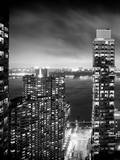 Landscape Foggy Night in Manhattan Photographic Print by Philippe Hugonnard